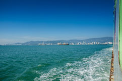 Scenery of penang. image taken from the iconic transport in penang, ferry Royalty Free Stock Photos