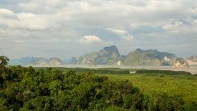 Scenery of Phang Nga Bay, Thailand. Scenery of Phang Nga Bay at Samet Nang She View point, Thailand Royalty Free Stock Image