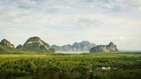 Scenery of Phang Nga Bay, Thailand. Scenery of Phang Nga Bay at Samet Nang She View point, Thailand Stock Image