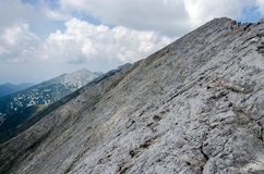 Scenery of Pirin mountain, Bulgaria. Cloudy scene of Pirin mountain, Bulgaria in daylight Royalty Free Stock Photo