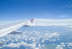 Scenery on the plane Royalty Free Stock Photos