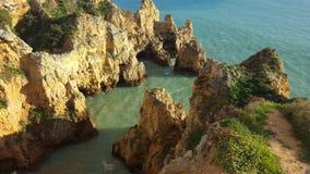 The scenery of the Portuguese coast stock image