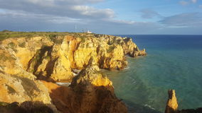 The scenery of the Portuguese coast stock image