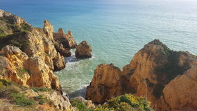The scenery of the Portuguese coast stock images
