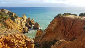 The scenery of the Portuguese coast Royalty Free Stock Photo