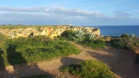 The scenery of the Portuguese coast stock photo