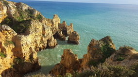 The scenery of the Portuguese coast royalty free stock photos