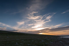 The scenery of Qinghai Lake Stock Images