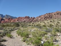 Scenery at the Red Rocks in Nevada near Las Vegas, USA Royalty Free Stock Photos