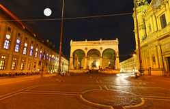 The scenery at the Residenz and Odeonsplatz Stock Images