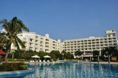 Scenery in the resort hotel. In Sanya Bay, National Resort District, Sanya, Hainan Island, China stock photos