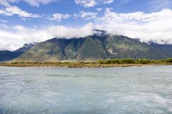 Scenery of river and mountain Stock Photos