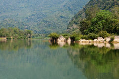 Scenery river Nam Ou in Laos Stock Photo