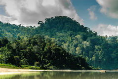 Scenery from the river Sungai tembeling Royalty Free Stock Photo