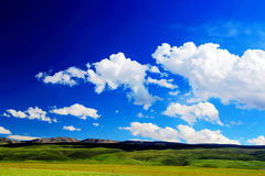 The scenery on the road to Qinghai Tibet Plateau. Located in Qinghai province , China stock photo