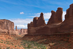 Scenery with Rock Formations in Arches. In Utah Stock Photo