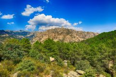 Scenery of the Rocky Mountains in Spain Royalty Free Stock Images