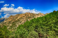 Scenery of the Rocky Mountains in Spain Royalty Free Stock Image
