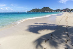 Scenery from Saint Martin, Caribbean Island. French West Indies Royalty Free Stock Photos