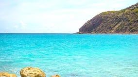 Scenery from Saint Martin`s Beach in Caribbean Stock Photography