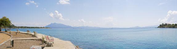 Scenery of sea and island of datca Royalty Free Stock Photo