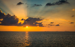 Scenery of the sea during sunset Stock Photo
