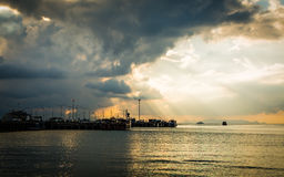 Scenery at seaport in Koh Samui, Thailand Royalty Free Stock Images