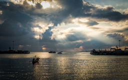Scenery at seaport in Koh Samui, Thailand Stock Photography