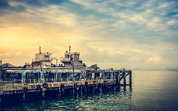 Scenery at seaport in Koh Samui, Thailand Royalty Free Stock Photo