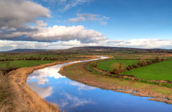 Scenery  Shannon river, Ireland Stock Photo