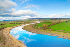 Scenery of Shannon river Stock Photos