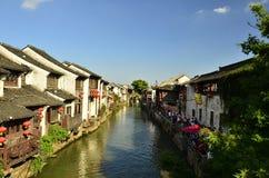 The scenery of Shantang street at Suzhou,China in spring. The scenery of Shantang street at Suzhou,China royalty free stock photo