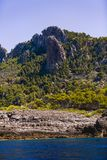 Scenery with shoreline in Palma de Mallorca Stock Photography