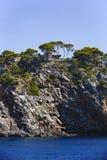 Scenery with shoreline in Palma de Mallorca Stock Image