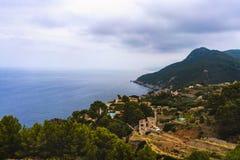 Scenery with shoreline in Palma de Mallorca Royalty Free Stock Photos
