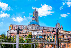 Scenery of Siena, a beautiful medieval town in Tuscany. Italy Stock Photos