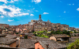 Scenery of Siena, a beautiful medieval town in Tuscany. Italy Royalty Free Stock Image