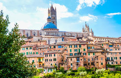 Scenery of Siena, a beautiful medieval town in Tuscany. Italy Stock Images