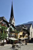 Square in Hallstatt Royalty Free Stock Images