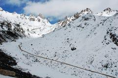 Scenery of snow mountains Stock Image
