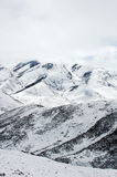 Scenery of snow mountains Royalty Free Stock Photos