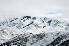 Scenery of snow mountains Royalty Free Stock Photography