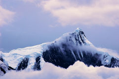 Scenery of snow mountains Royalty Free Stock Image