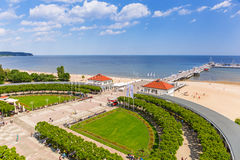 Scenery of Sopot molo at Baltic Sea in Poland Stock Photography