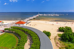 Scenery of Sopot molo at Baltic Sea in Poland Stock Photos