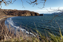 Scenery spring seascape of Kamchatka Peninsula: Avachinskaya Bay Stock Photo