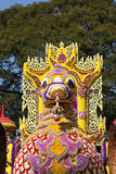 Scenery from statues and flowers on the street, Thailand. South east asia royalty free stock photography
