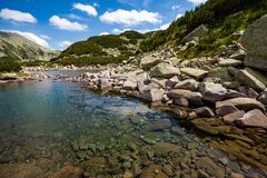 Scenery summer landscape, Pirin Mountain, Bulgaria royalty free stock images