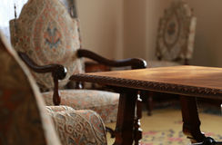 Scenery of a table and the chair. Scenery of the living room of a table and the chair Royalty Free Stock Photo
