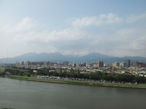 Scenery from Taiwan. Simplistic view of the city stock photography